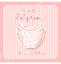 girl baby shower vector image