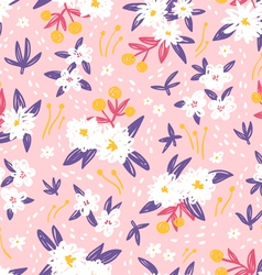 Gorgeous vintage floral seamless pattern vector image
