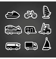 Set simple stickers transport vector image vector image