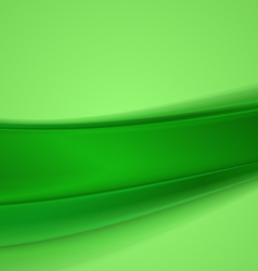 Abstract green wavy background vector image vector image