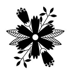 flower petals leaves nature decoration vector image