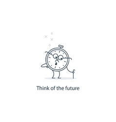 Future thinking time to retire vector