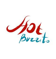 hotburito - burrito fastfood logotype vector image vector image