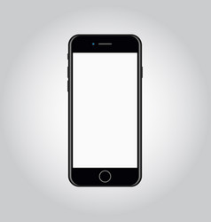smartphone mockup with blank screen flat vector image
