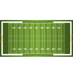 Textured Grass American Football Field vector image vector image