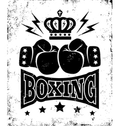 boxing new logo black vector image vector image