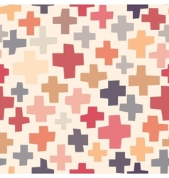Hand drawn crosses pattern vector image vector image