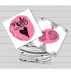Printable card in the style of Hand-drawn Sewing vector image vector image