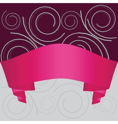 Swirl background with ribbon vector image