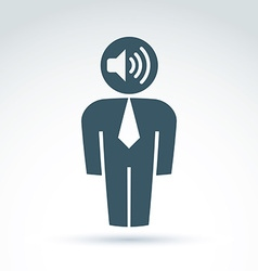 White collar office worker man icon with vector
