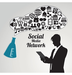 Abstract concept social media networwork vector