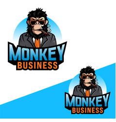 awesome monkey logo vector image