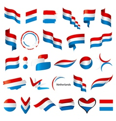 biggest collection of flags of Netherlands vector image