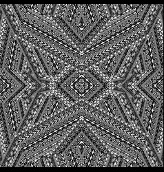 black and white ethnic motifs pattern vector image