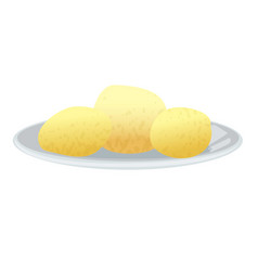 Boiled potatoes icon cartoon style vector