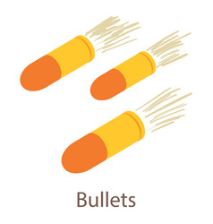 bullets icon isometric 3d style vector image