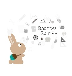 Bunny back to school vector image