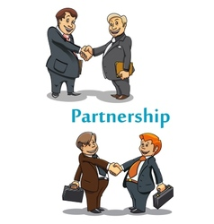 Businessman handshake and partnership vector