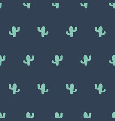 cactus seamless pattern boy green grey background vector image