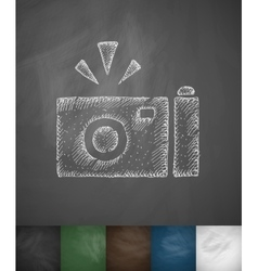 camera icon Hand drawn vector image
