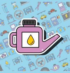 car service engine oil canister tool vector image