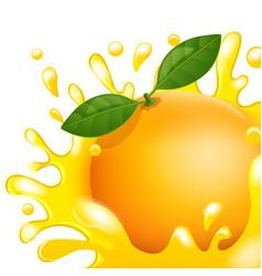 cartoon orange fresh apple juice vector image