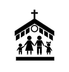 Church Stick Figure vector