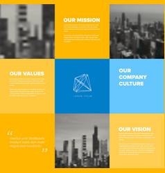 company mission vision values template vector image