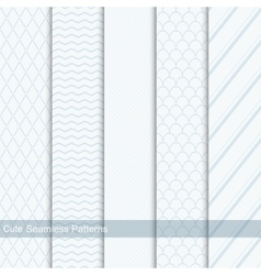 Cute seamless patterns backgrounds vector image