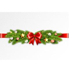 detailed christmas garland vector image