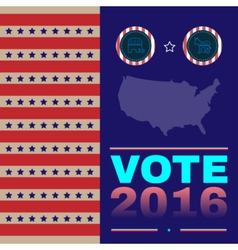Digital usa election with presidential vector