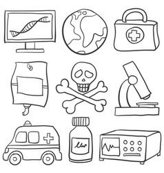 Doodle of element doctor health vector