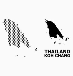 Dotted pattern map koh chang vector
