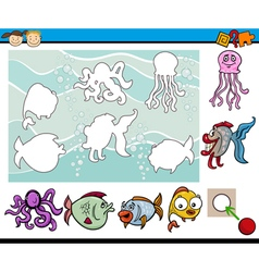 Educational game for children vector
