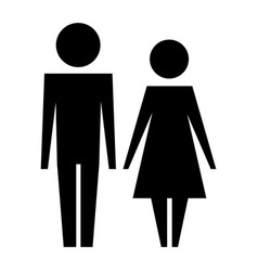 family couple silhouette avatars vector image