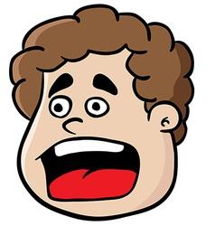 fat boy scream vector image