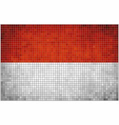 flag of monaco vector image