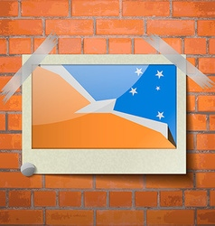 Flags of Tierra del Fuego Province scotch taped to vector