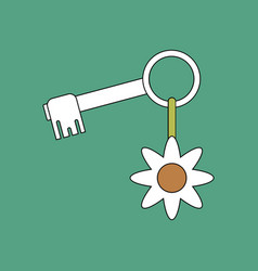 flat icon design collection key and key fob vector image