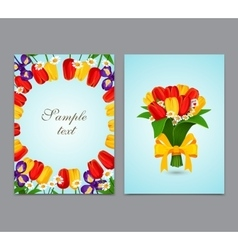 flowers background bouquet tulips vector image