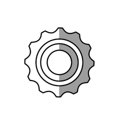 gear wheel technology mechanical line shadow vector image