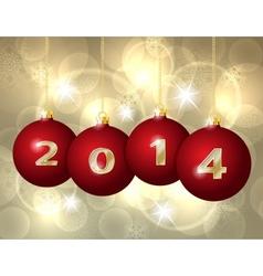 Glass Christmas Balls 2014 vector