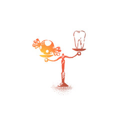Healthy teeth and sweets white tooth and candy vector