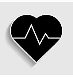 Heartbeat sign Sticker style icon vector image