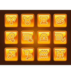 Horoscope Buttons vector image