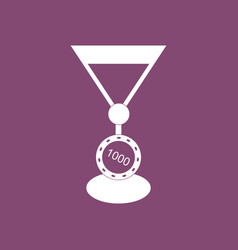 Icon casino chip and cocktail vector
