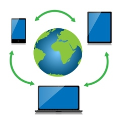 Internet technology vector