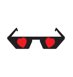 isolated pixelated sunglasses icon vector image