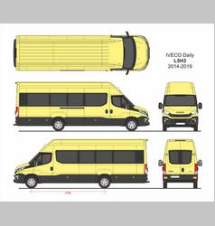 Iveco daily passenger van l5h3 2014-2019 vector