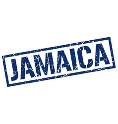 Jamaica blue square stamp vector